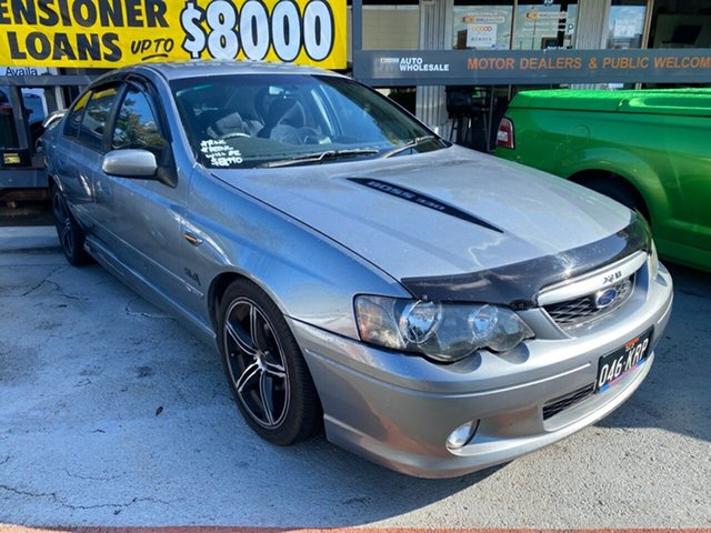 Used Ford Falcon Morayfield, 2003 Ford Falcon BA XR8 Silver 4 Speed Auto Active Select Sedan