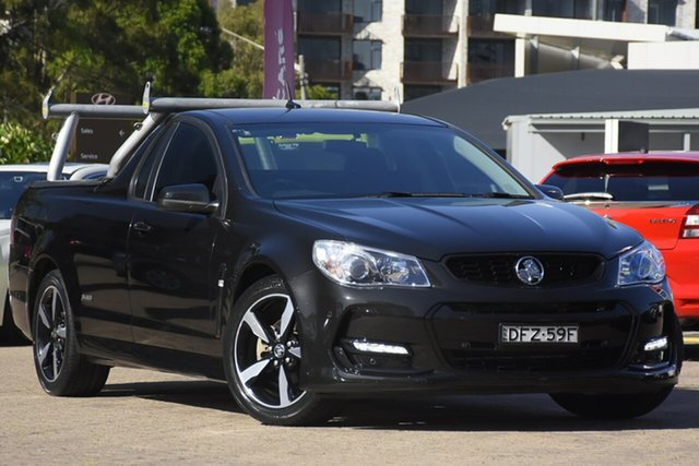 Used Holden Ute Vfii MY16 SV6 Black Edition Rosebery, 2016 Holden Ute Vfii MY16 SV6 Black Edition Black 6 Speed Automatic Utility