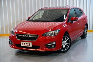 2017 Subaru Impreza G5 MY17 2.0i Premium CVT AWD Red/Black 7 Speed Constant Variable Hatchback.