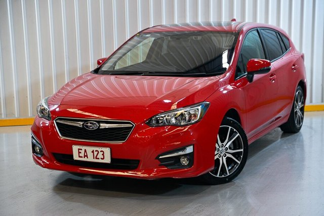 Used Subaru Impreza G5 MY17 2.0i Premium CVT AWD Hendra, 2017 Subaru Impreza G5 MY17 2.0i Premium CVT AWD Red/Black 7 Speed Constant Variable Hatchback
