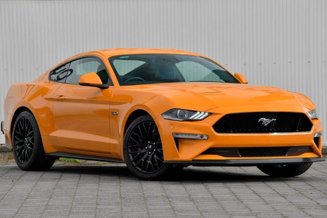 Used Ford Mustang FN 2018MY GT Fastback SelectShift Dandenong, 2018 Ford Mustang FN 2018MY GT Fastback SelectShift Orange Fury 10 Speed Sports Automatic Fastback