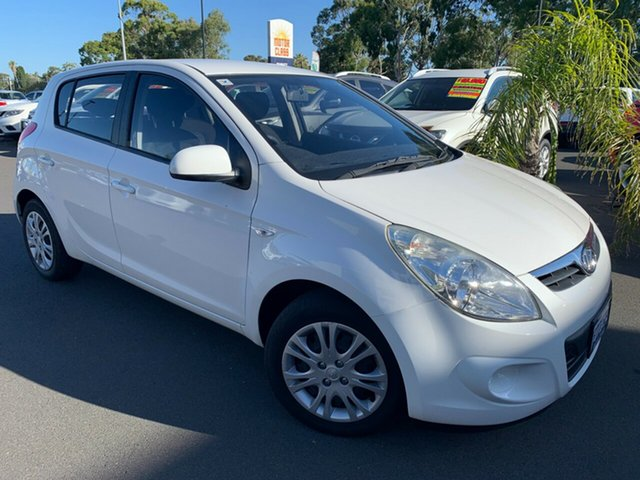 Used Hyundai i20 PB MY12 Active Bunbury, 2012 Hyundai i20 PB MY12 Active White 4 Speed Automatic Hatchback