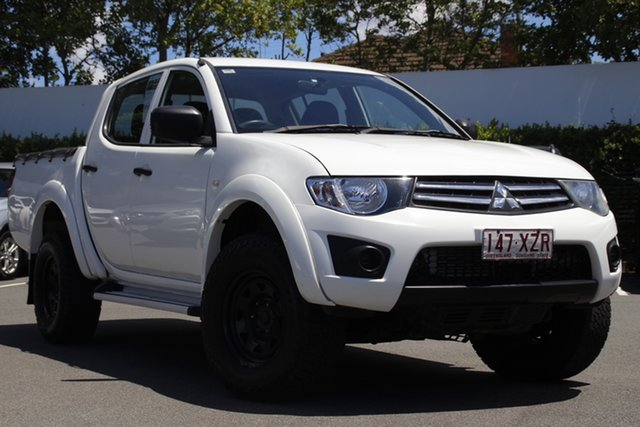 Used Mitsubishi Triton MN MY15 GLX Double Cab Mount Gravatt, 2015 Mitsubishi Triton MN MY15 GLX Double Cab White 5 Speed Manual Utility