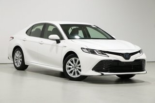 2019 Toyota Camry AXVH71R Ascent (Hybrid) White Continuous Variable Sedan.