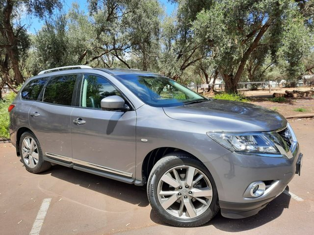 Used Nissan Pathfinder R52 MY15 Ti X-tronic 2WD Adelaide, 2015 Nissan Pathfinder R52 MY15 Ti X-tronic 2WD Grey 1 Speed Constant Variable Wagon
