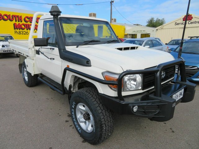 Used Toyota Landcruiser VDJ79R MY12 Update Workmate (4x4) Morphett Vale, 2016 Toyota Landcruiser VDJ79R MY12 Update Workmate (4x4) White 5 Speed Manual Cab Chassis