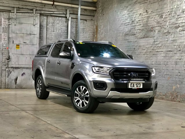 Used Ford Ranger PX MkIII 2019.00MY Wildtrak Mile End South, 2019 Ford Ranger PX MkIII 2019.00MY Wildtrak Silver 10 Speed Sports Automatic Double Cab Pick Up