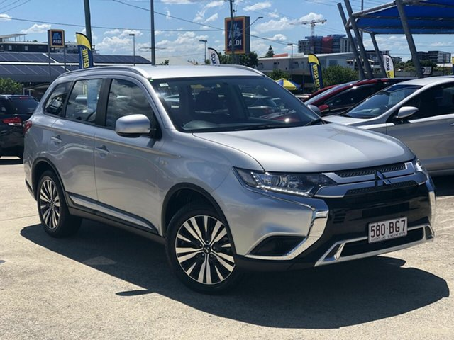 Used Mitsubishi Outlander ZL MY19 ES AWD Chermside, 2018 Mitsubishi Outlander ZL MY19 ES AWD Silver 6 Speed Constant Variable Wagon