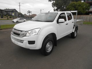 2015 Isuzu D-MAX TF MY15 SX (4x4) White 5 Speed Automatic Crew Cab Chassis.
