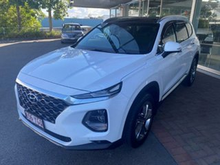 2018 Hyundai Santa Fe TM MY19 Highlander White 8 Speed Sports Automatic Wagon.