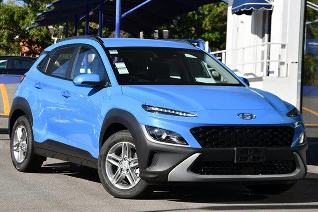 Demo Hyundai Kona 0S.V4 MY21 (FWD) Victoria Park, 2020 Hyundai Kona 0S.V4 MY21 (FWD) Surfy Blue Continuous Variable Wagon
