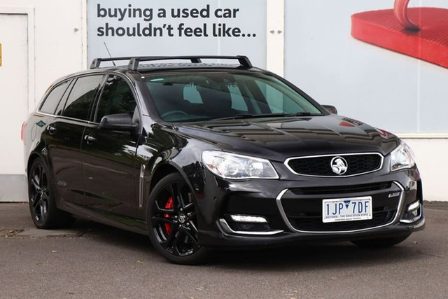 Pre-Owned Holden Commodore VF MY15 SS V Sportwagon Redline Ferntree Gully, 2015 Holden Commodore VF MY15 SS V Sportwagon Redline Black 6 Speed Sports Automatic Wagon