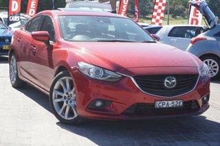 2013 Mazda 6 GJ1021 Atenza SKYACTIV-Drive Red 6 Speed Sports Automatic Sedan.