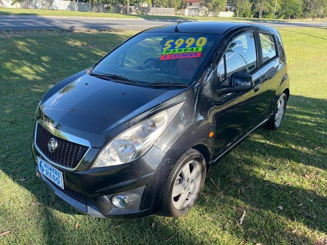 Used Holden Barina TK MY11 Clontarf, 2011 Holden Barina TK MY11 Black 5 Speed Manual Hatchback
