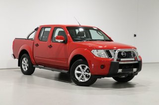 2014 Nissan Navara D40 MY12 Upgrade ST (4x4) Red 6 Speed Manual Dual Cab Pick-up.