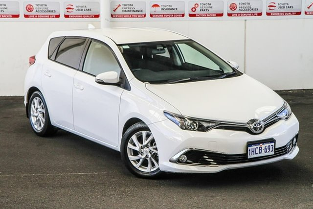 Pre-Owned Toyota Corolla ZRE182R MY17 Ascent Sport Myaree, 2018 Toyota Corolla ZRE182R MY17 Ascent Sport Glacier White 7 Speed CVT Auto Sequential Hatchback