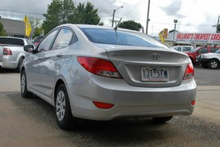 2016 Hyundai Accent RB4 MY17 Active Silver 6 Speed CVT Auto Sequential Sedan