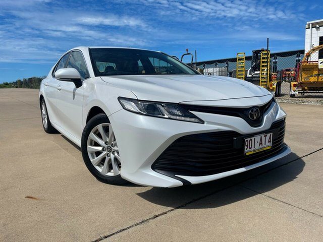 Used Toyota Camry ASV70R Ascent Townsville, 2019 Toyota Camry ASV70R Ascent White/260319 6 Speed Sports Automatic Sedan