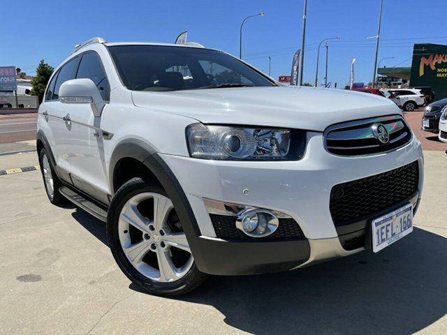 Used Holden Captiva CG MY12 7 LX (4x4) Victoria Park, 2013 Holden Captiva CG MY12 7 LX (4x4) White 6 Speed Automatic Wagon
