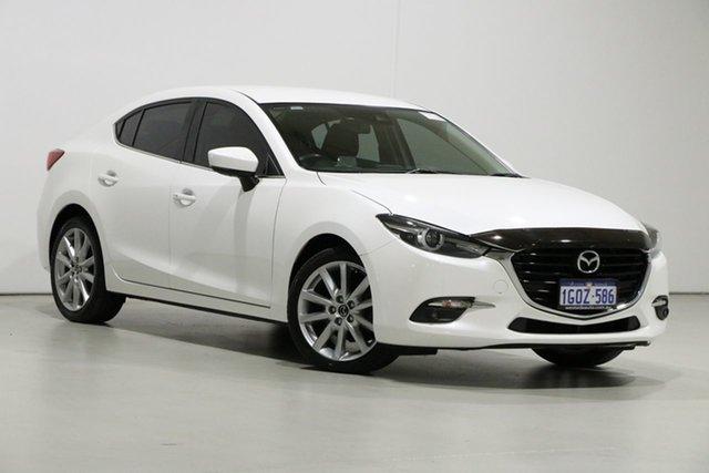 Used Mazda 3 BN MY17 SP25 GT Bentley, 2017 Mazda 3 BN MY17 SP25 GT White 6 Speed Manual Sedan