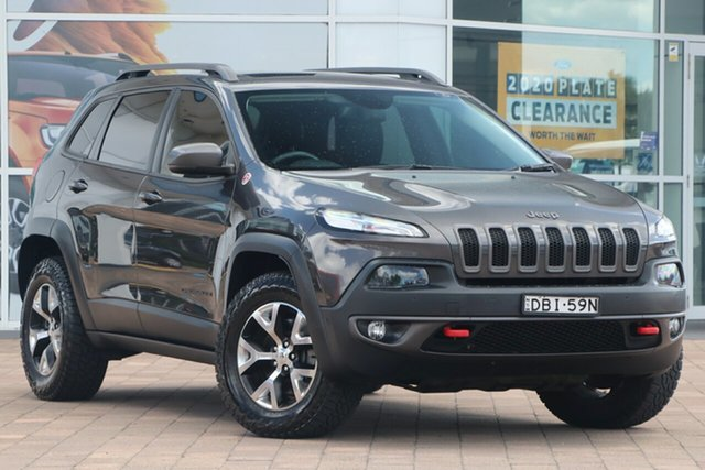 Used Jeep Cherokee KL MY15 Trailhawk Warwick Farm, 2015 Jeep Cherokee KL MY15 Trailhawk Grey 9 Speed Sports Automatic SUV