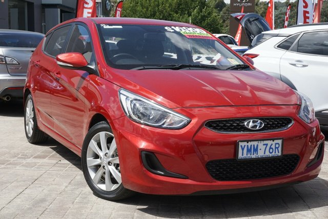 Used Hyundai Accent RB5 MY17 Sport Phillip, 2017 Hyundai Accent RB5 MY17 Sport Pulse Red 6 Speed Sports Automatic Hatchback