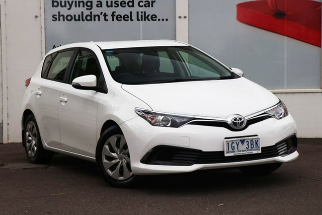 Pre-Owned Toyota Corolla ZRE182R Ascent S-CVT Ferntree Gully, 2016 Toyota Corolla ZRE182R Ascent S-CVT White 7 Speed Constant Variable Hatchback