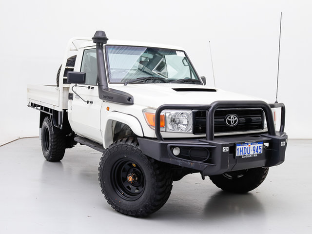 Used Toyota Landcruiser VDJ79R MY12 Update Workmate (4x4), 2016 Toyota Landcruiser VDJ79R MY12 Update Workmate (4x4) White 5 Speed Manual Cab Chassis