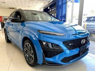 2020 Hyundai Kona Os.v4 MY21 N-Line D-CT AWD Premium Surfy Blue Black Roof 7 Speed.