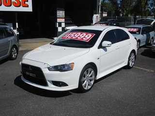 2015 Mitsubishi Lancer CJ MY15 GSR Sportback White 6 Speed CVT Auto Sequential Hatchback.