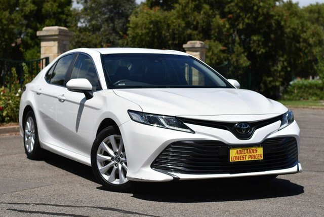 Used Toyota Camry ASV70R Ascent Enfield, 2019 Toyota Camry ASV70R Ascent White 6 Speed Sports Automatic Sedan