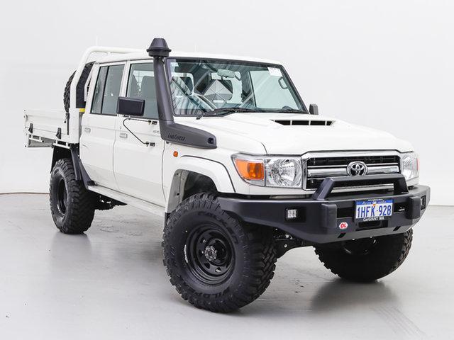 Used Toyota Landcruiser VDJ79R GXL (4x4), 2020 Toyota Landcruiser VDJ79R GXL (4x4) White 5 Speed Manual Double Cab Chassis