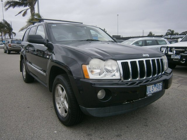 Used Jeep Grand Cherokee WH MY2006 Limited Cheltenham, 2006 Jeep Grand Cherokee WH MY2006 Limited Black 5 Speed Automatic Wagon