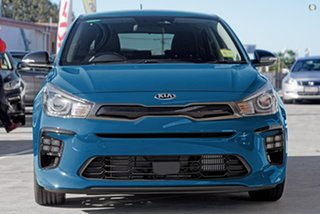 2020 Kia Rio YB MY21 GT-Line DCT Blue 7 Speed Sports Automatic Dual Clutch Hatchback.