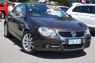2007 Volkswagen EOS 1F TDI Brown 6 Speed Manual Convertible.