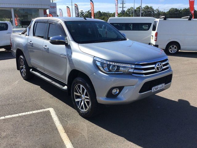 Pre-Owned Toyota Hilux GUN126R SR5 Double Cab Cardiff, 2017 Toyota Hilux GUN126R SR5 Double Cab Grey 6 Speed Manual Utility