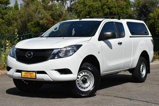2017 Mazda BT-50 UR0YG1 XT Freestyle 4x2 Hi-Rider White 6 Speed Manual Cab Chassis.