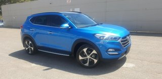 2017 Hyundai Tucson TLe MY17 Highlander D-CT AWD Blue 7 Speed Sports Automatic Dual Clutch Wagon.