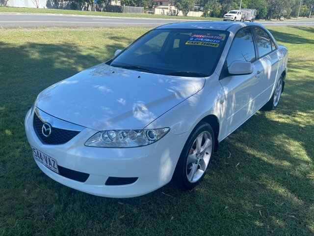 Used Mazda 6 GG1031 Luxury Clontarf, 2003 Mazda 6 GG1031 Luxury White 4 Speed Sports Automatic Sedan
