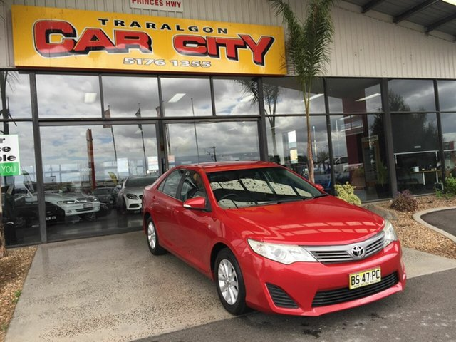 Used Toyota Camry ASV50R Altise Traralgon, 2012 Toyota Camry ASV50R Altise Red 6 Speed Automatic Sedan