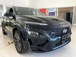 2020 Hyundai Kona Os.v4 MY21 N-Line D-CT AWD Premium Phantom Black 7 Speed.