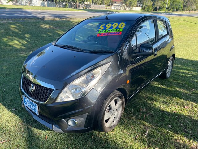 Used Holden Barina Spark MJ MY11 CDX Clontarf, 2010 Holden Barina Spark MJ MY11 CDX Black 5 Speed Manual Hatchback