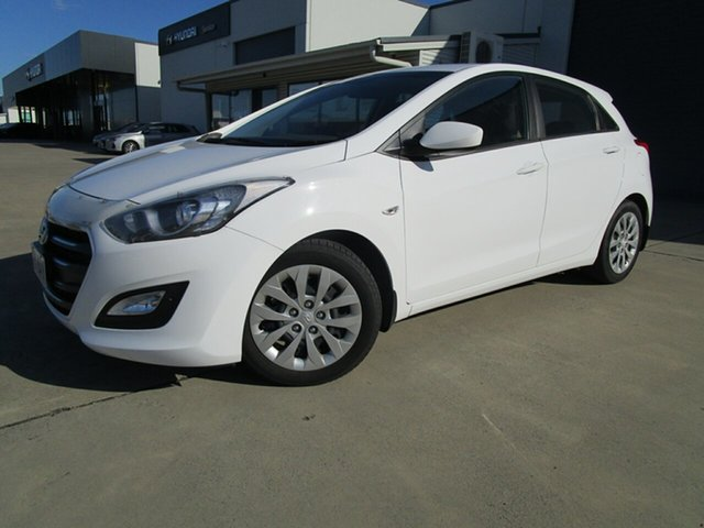 Used Hyundai i30 GD4 Series II MY17 Active Caboolture, 2016 Hyundai i30 GD4 Series II MY17 Active White 6 Speed Sports Automatic Hatchback