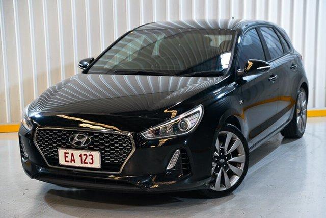 Used Hyundai i30 GD5 Series II MY17 SR Hendra, 2017 Hyundai i30 GD5 Series II MY17 SR Black 6 Speed Sports Automatic Hatchback