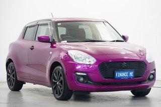 2017 Suzuki Swift AZ GL Navigator White/ Pink Wrap 1 Speed Constant Variable Hatchback.