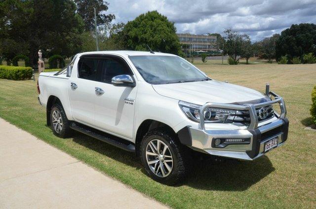 Used Toyota Hilux GUN126R SR5 (4x4) Toowoomba, 2015 Toyota Hilux GUN126R SR5 (4x4) White 6 Speed Manual Dual Cab Utility