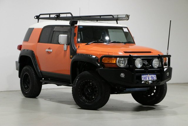 Used Toyota FJ Cruiser GSJ15R Bentley, 2013 Toyota FJ Cruiser GSJ15R Orange 5 Speed Automatic Wagon