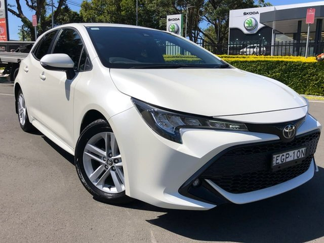 Used Toyota Corolla Mzea12R SX Botany, 2019 Toyota Corolla Mzea12R SX White 10 Speed Constant Variable Hatchback
