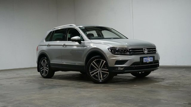 Used Volkswagen Tiguan 5N MY19 162TSI DSG 4MOTION Highline Welshpool, 2018 Volkswagen Tiguan 5N MY19 162TSI DSG 4MOTION Highline Silver Metallic 7 Speed