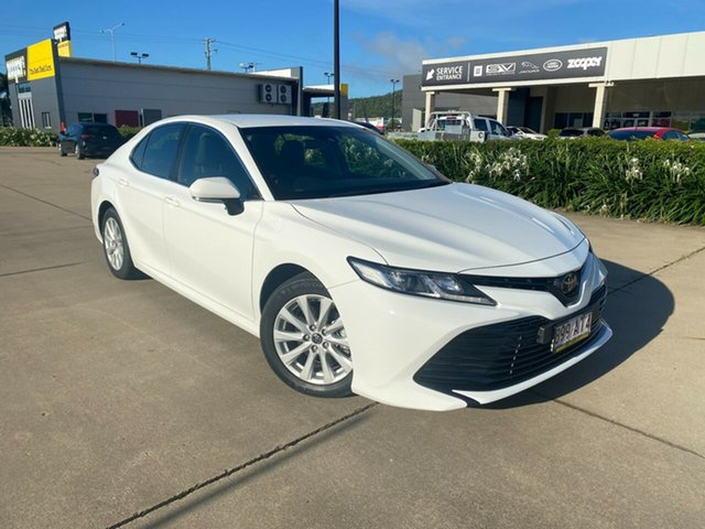 Used Toyota Camry ASV70R Ascent Townsville, 2019 Toyota Camry ASV70R Ascent White 6 Speed Sports Automatic Sedan